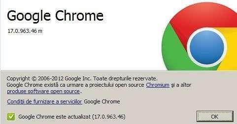 Google Chrome 17 - Refu.ro
