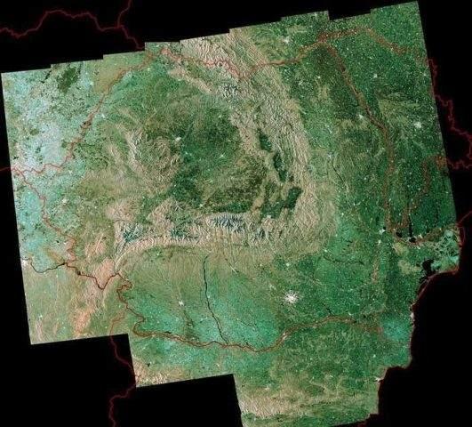 Romania din satelit