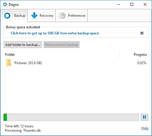 Degoo Cloud - 100 GB de Backup in cloud - Refu.ro