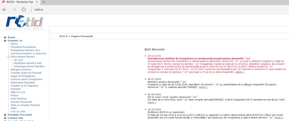 RoTLD vrea inregistrare domenii pe minim 5 ani - Refu.ro